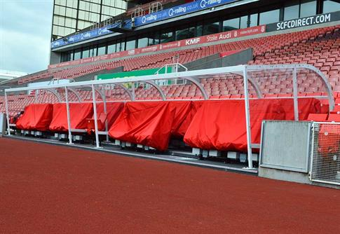 Stadium dugout shelter product gallery image