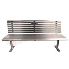 Paris stainless steel park seat