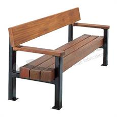 Zurich timber and mild steel seat