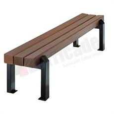 Zurich timber and mild steel bench