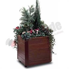 Turin timber planter
