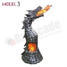 Dragon log burner - Fire breathing chiminea