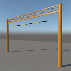 Height Restriction Barrier - Fixed Lattice Top