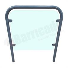 Mild Steel Door Guard - Glass Infill