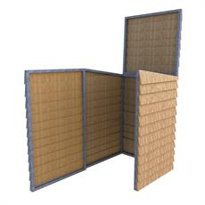 Wheelie Bin Store - Feather Edge Timber