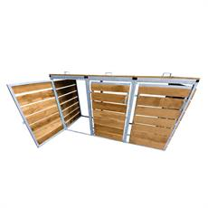 Wheelie Bin Store - Horizontal Timber Slats