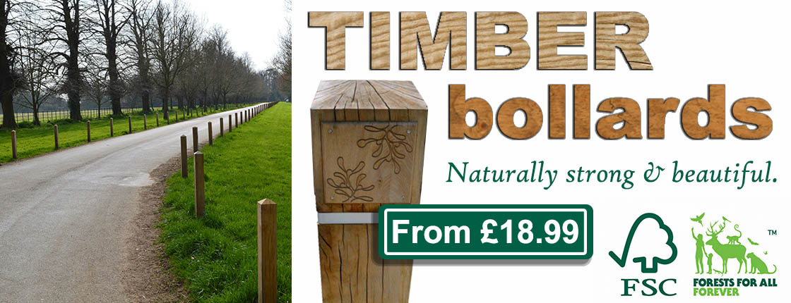 Click here to view our range of Hardwood Timber Bollards.