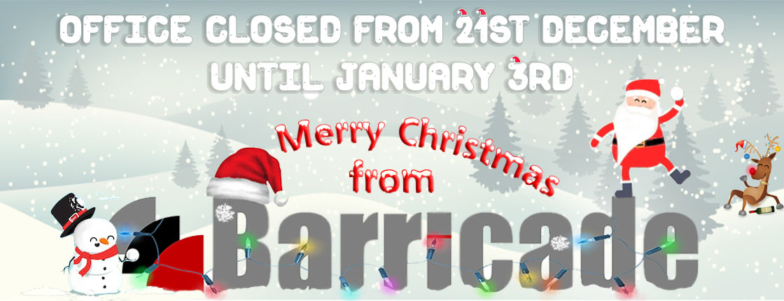 Merry Christmas from everyone at Barricade. Have a wonderful time!