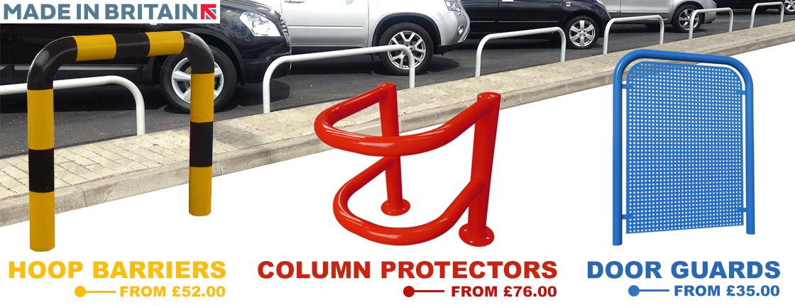 View our full range of hoop barriers, column protectors & door guards.
