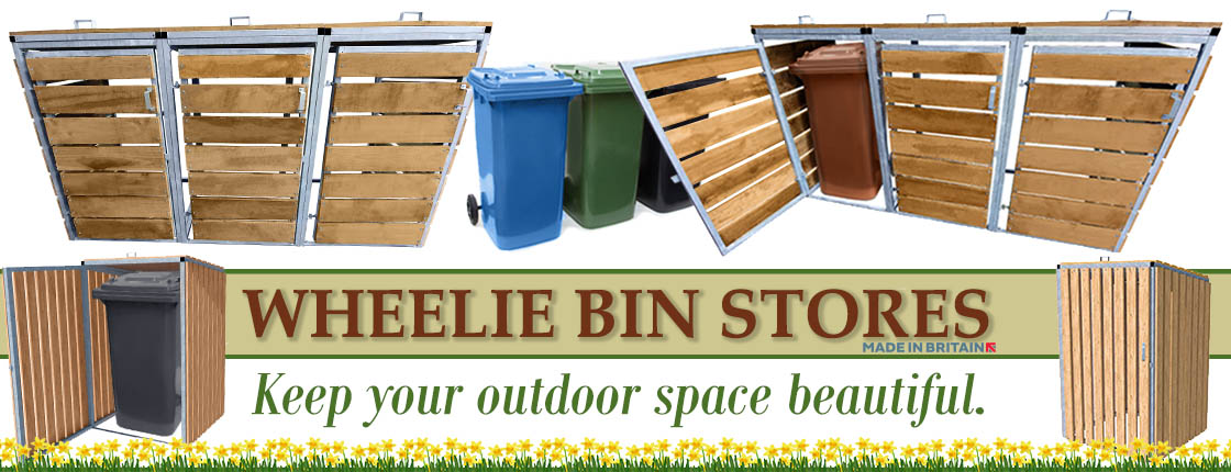 Click here to view our range of high quality wheelie bin stores