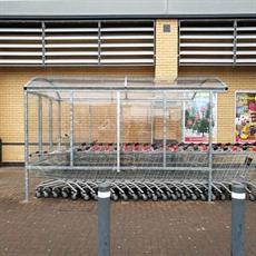 Supermarket trolley shelters