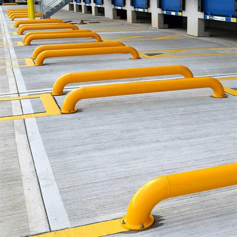 HGV Wheel Guide Loading Bay Barrier (Pair) product gallery image