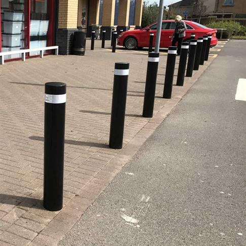 Round Steel Bollard - Root Fix product gallery image