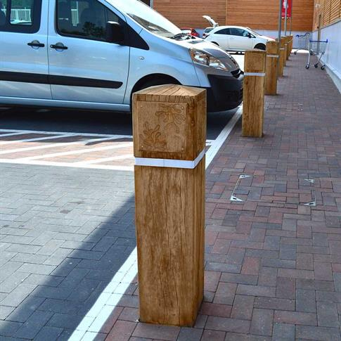 Square Hardwood Timber Bollard product gallery image