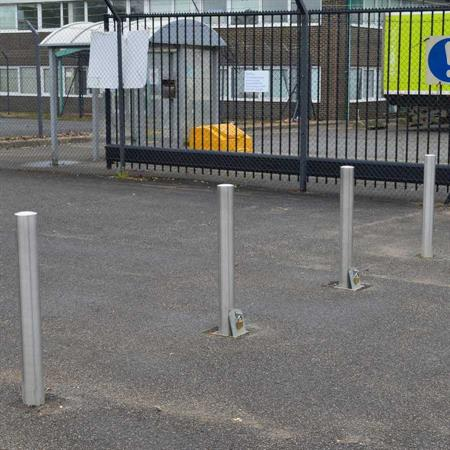 Stainless Steel Removable Bollard With Ground Socket product gallery image