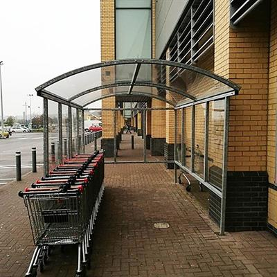 Supermarket Trolley Shelter product gallery image