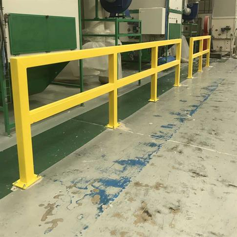 Warehouse guardrail safety barrier product gallery image